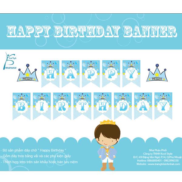 Dây chữ sinh nhật Hoàng Tử