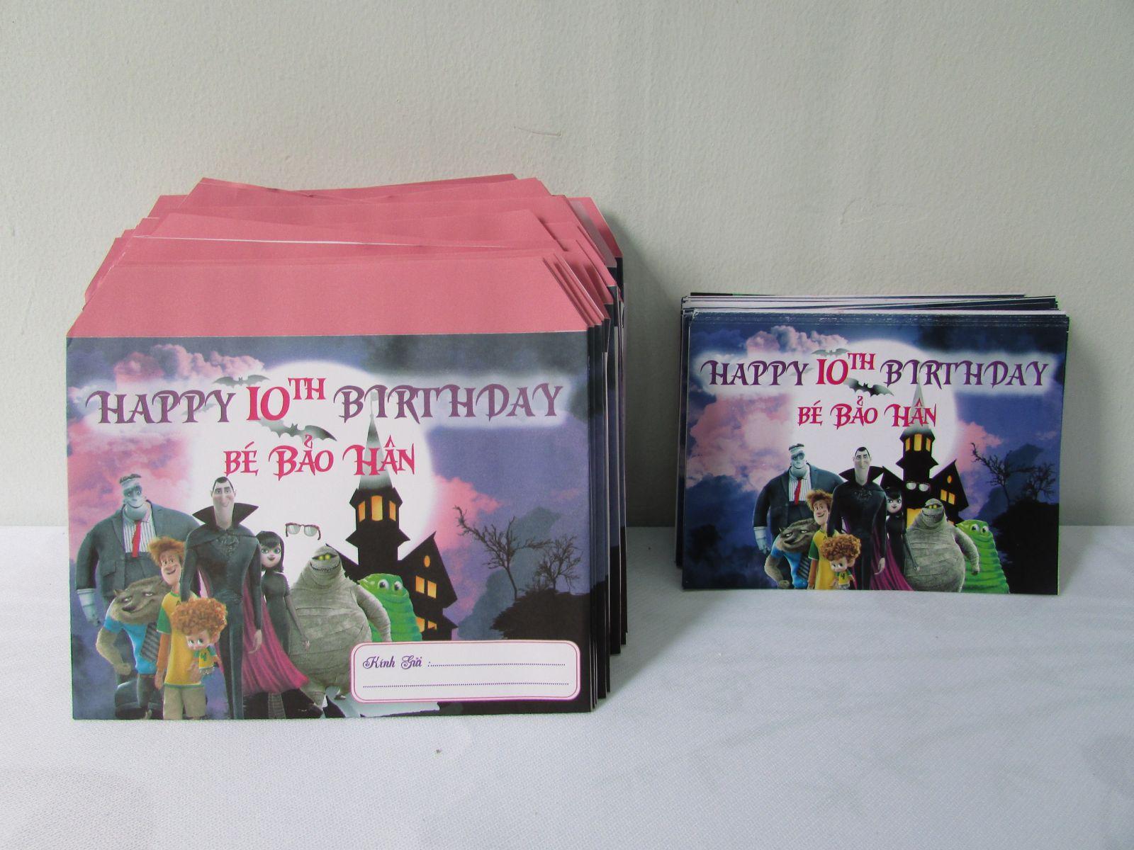 Mẫu thiệp mời sinh nhật thiết kế riêng cho khách hàng