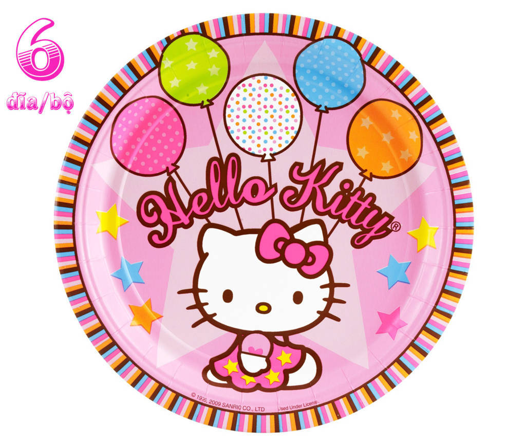 Đĩa giấy sinh nhật kitty