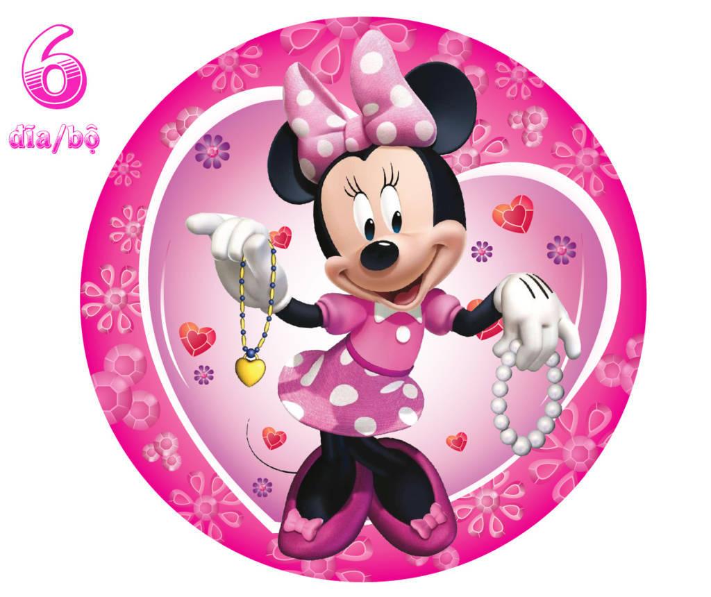 Đĩa giấy sinh nhật Minne điệu đà cho bé gái