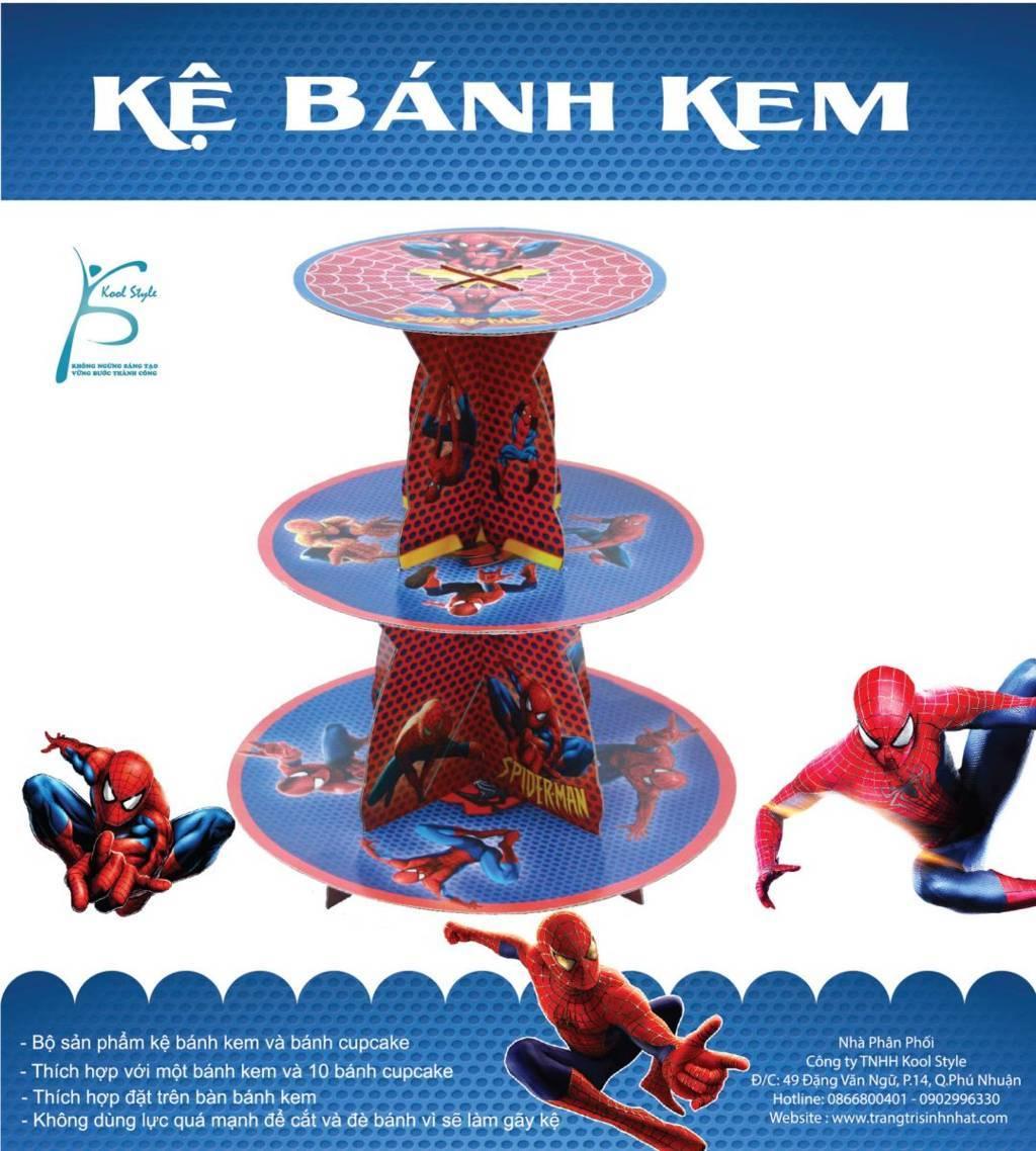 Kệ bánh sinh nhật Người nhện - Spiderman