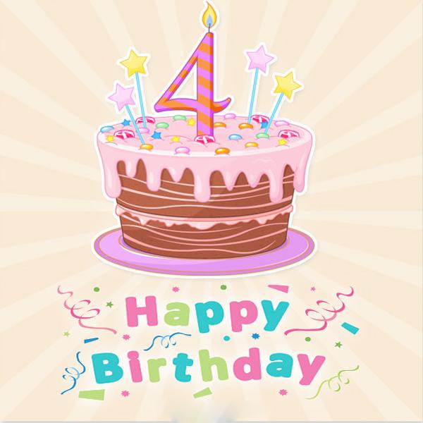 Lời chúc sinh nhật hay cho bé 4 tuổi
