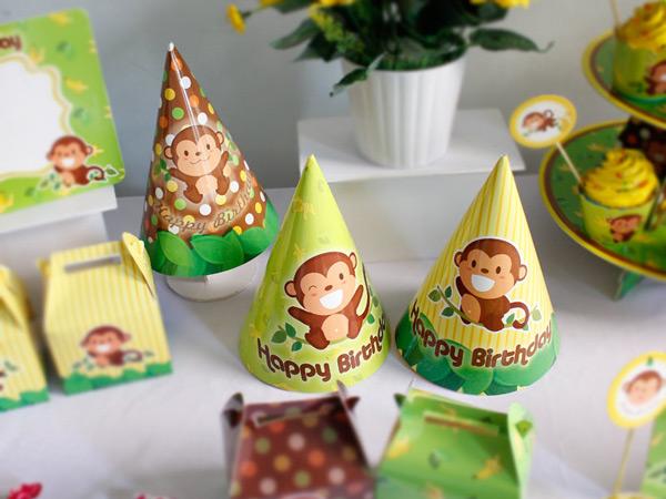 Nón sinh nhật bé trai tuổi khỉ