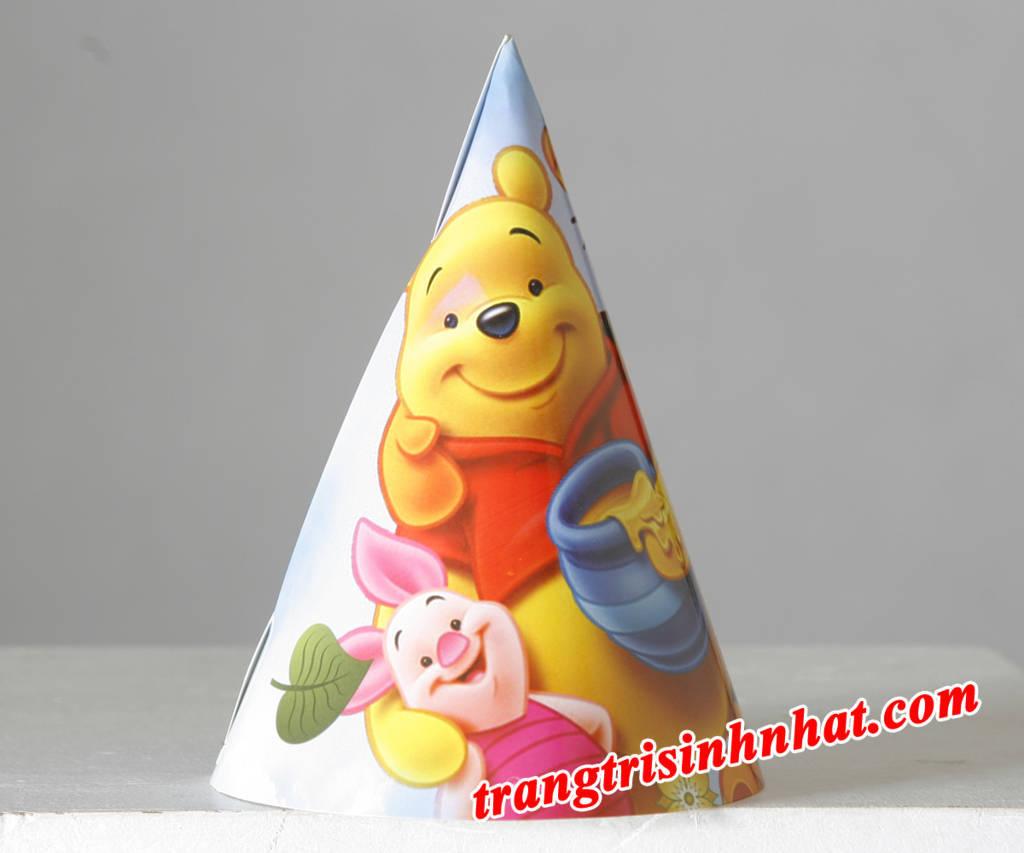 Nón sinh nhật gấu Pooh