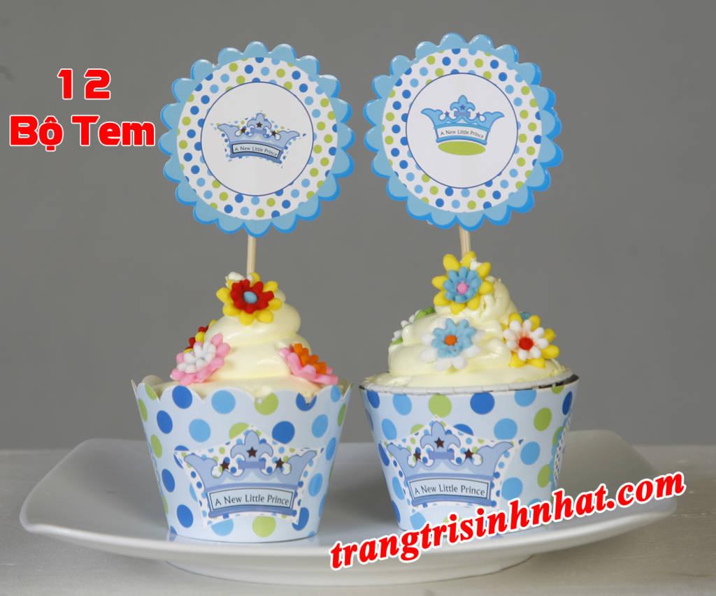 Tem bánh cupcake sinh nhật Hoàng tử