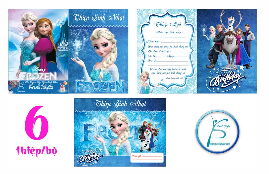Mẫu thiệp mời sinh nhật Frozen