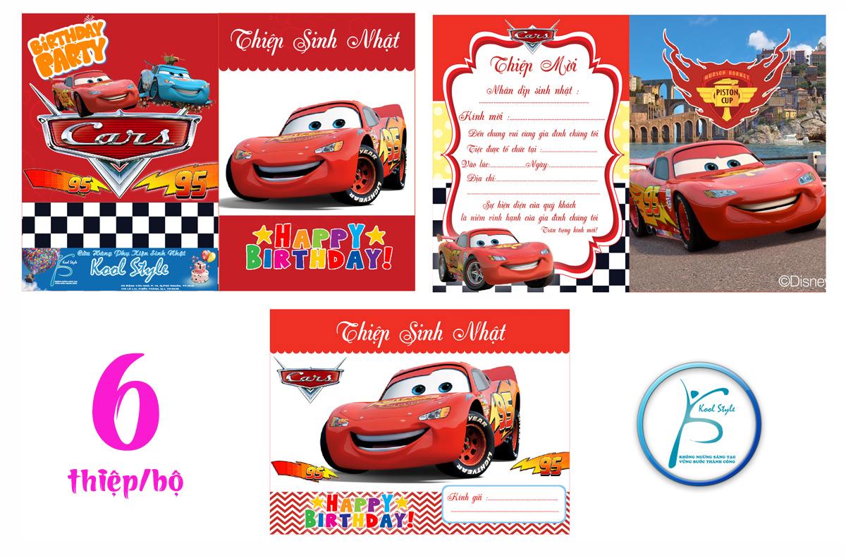 Mẫu thiệp mời sinh nhật MC Queen