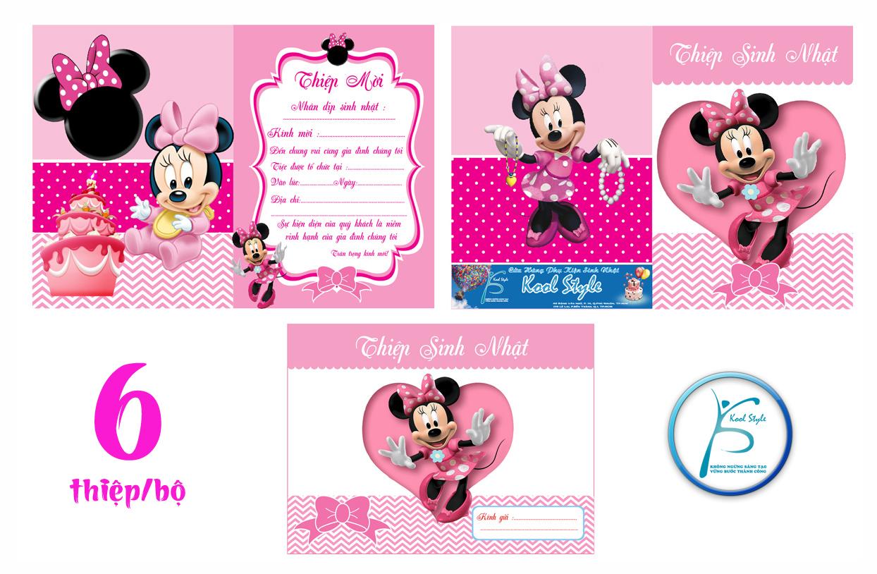 Mẫu thiệp mời sinh nhật Minnie